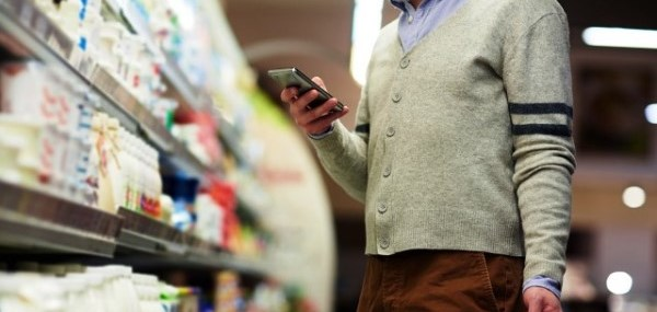 Using digital technology. mobile phone and in-store Wi-Fi to shop and make a purchase